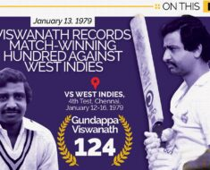 On This Day, January 13 1979: G Viswanath