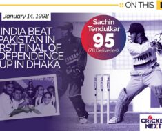 On This Day in 1998 - Tendulkar
