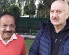 Anupam Kher meets Union Health Minister Harsh Vardhan, calls him 'people's person'