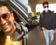 Fan greets Vicky Kaushal with samosa and jalebi at Indore airport