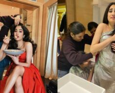 Janhvi Kapoor's 'before and after' pics show the struggle of food vs fashion is real