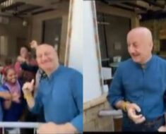 Anupam Kher parties with children on his birthday