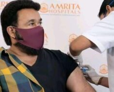 Drishyam 2 actor Mohanlal receives first dose of COVID-19 vaccine