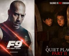 Posters of Fast and Furious and A Quiet Place 2