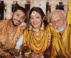 Gauahar Khan shares a throwback picture of late father