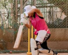 Taapsee Pannu preps for Shabaash Mithu, shares photo of practice in the nets