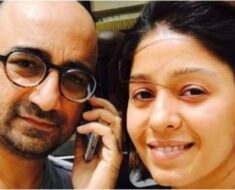 Sunidhi Chauhan with husband Hitesh Sonik